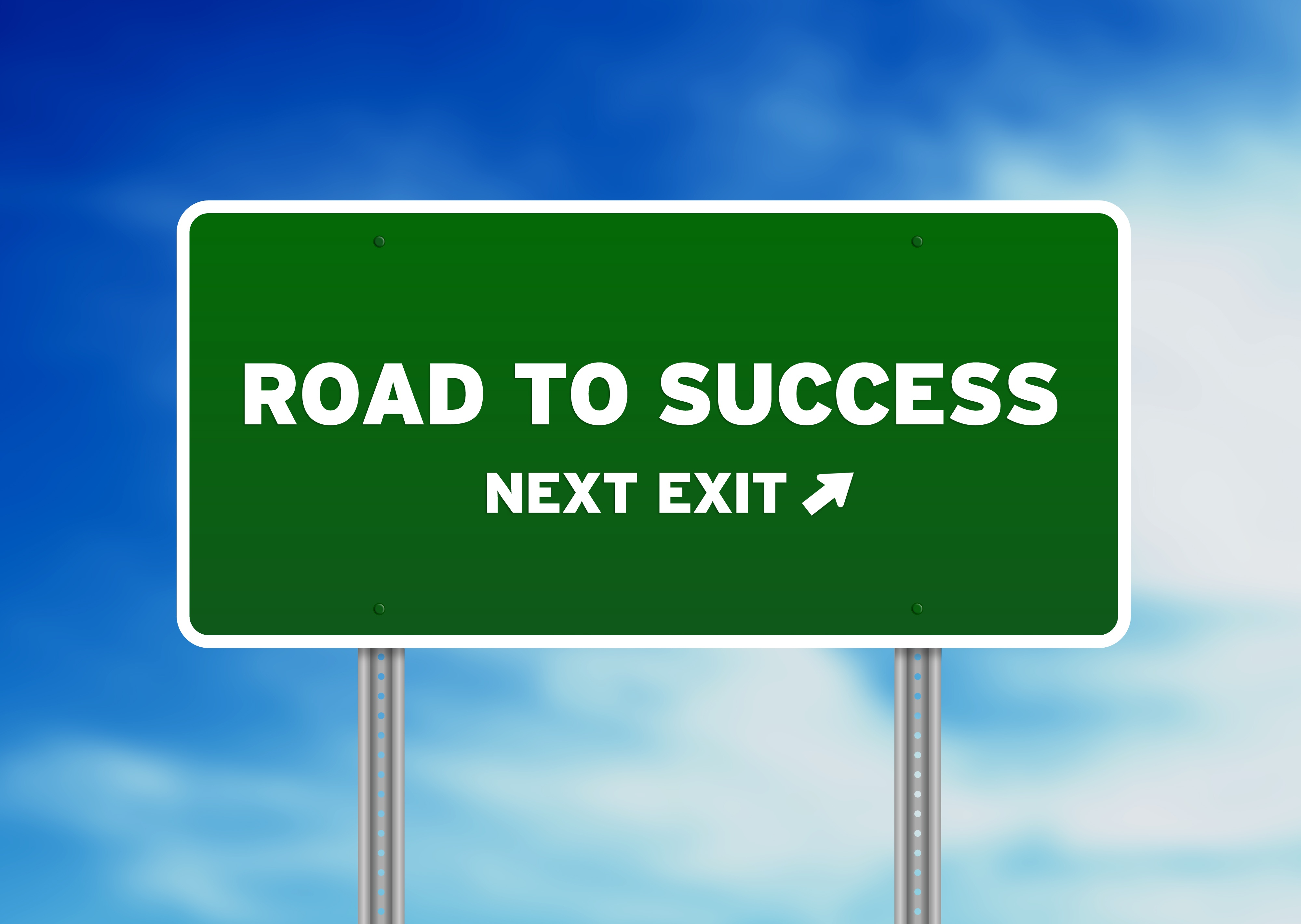 9836407_xxl road to success sign